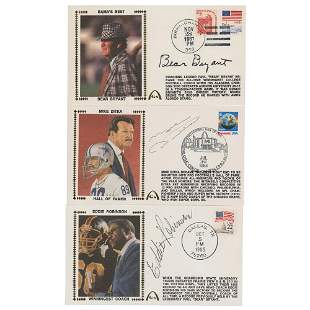 Football Coaches (3) Signed Covers