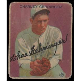 Charles Gehringer Signed 1933 Goudey #222 Baseball Card