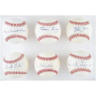 Negro League Legends (6) Signed Baseballs