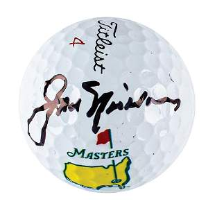 Jack Nicklaus Signed Golf Ball and Signed Photograph