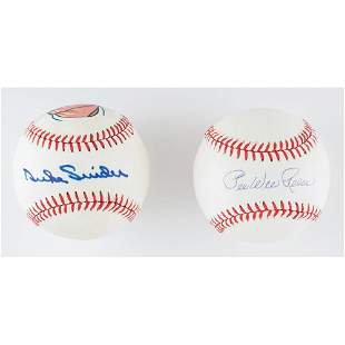 Duke Snider and Pee Wee Reese (2) Signed Baseballs