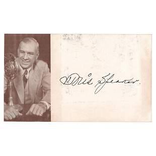 Tris Speaker Signature