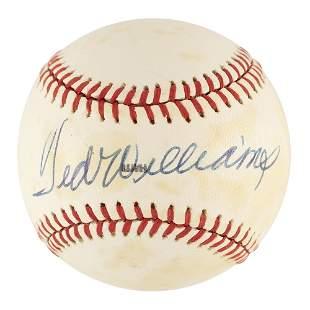 Ted Williams Signed Baseball