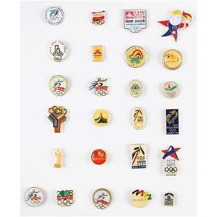 Summer and Winter Olympics Collection of (27) Bid Pins
