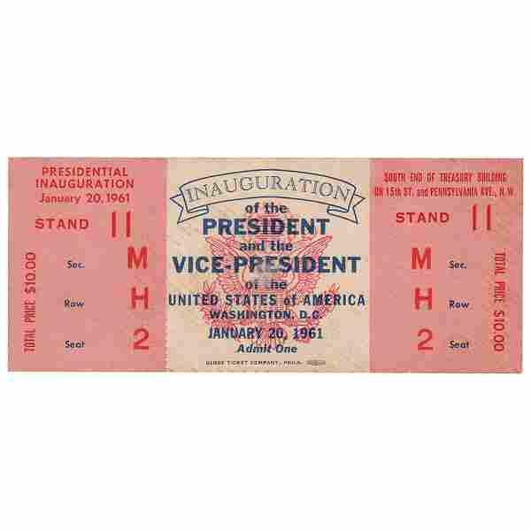 John F. Kennedy Inaugural Program and Ticket
