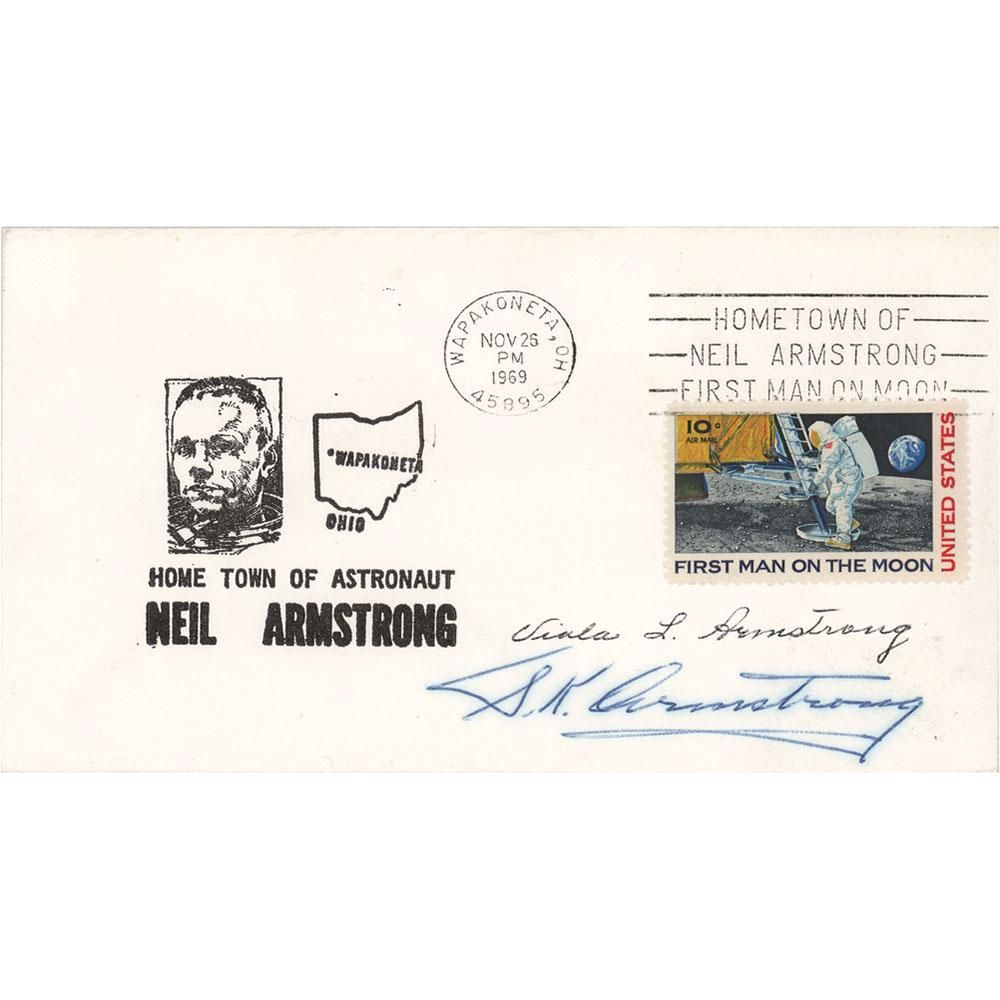 Neil Armstrong's Parents Signed Postal Cover