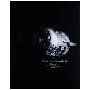 Fred Haise Signed Oversized Photograph