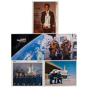 Space Shuttle (5) Signed Photographs