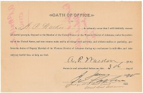7: Marshal Oath of Office Issued by Isaac Parker