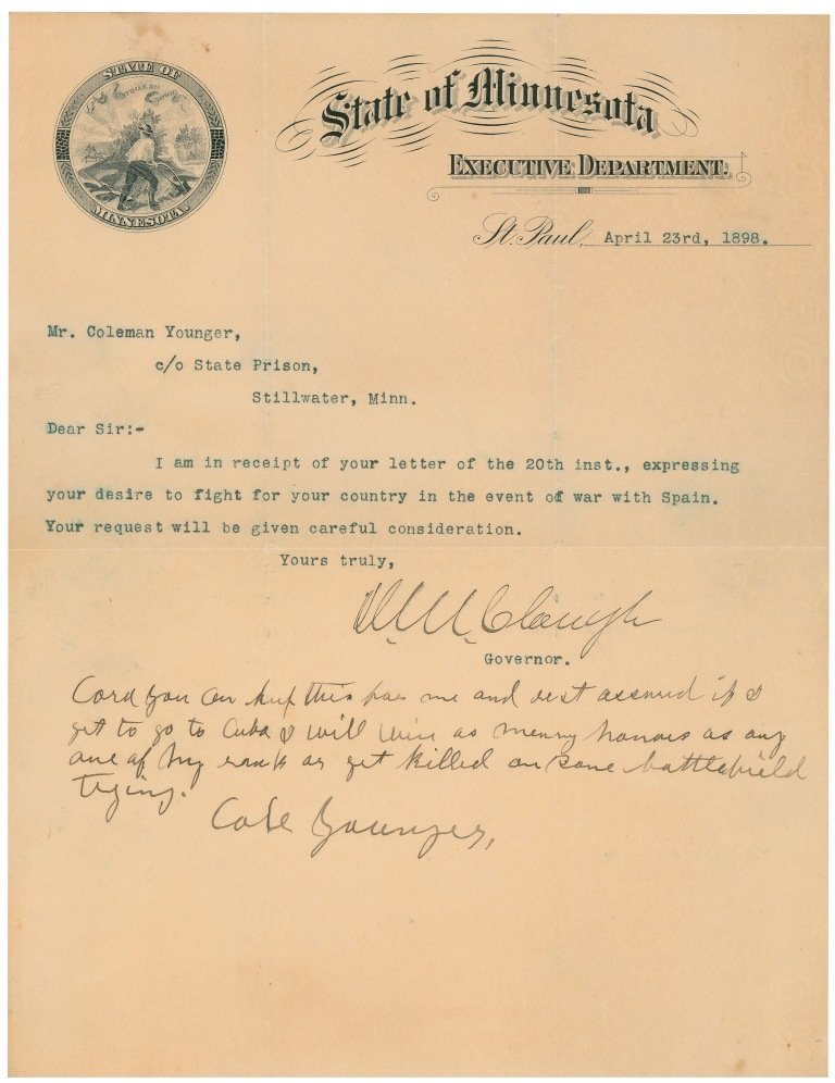 13: Cole Younger Letter