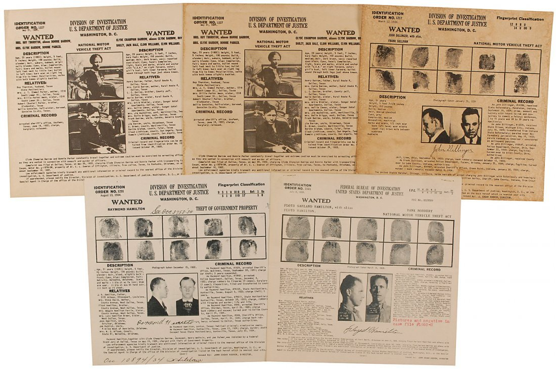 43: Gangster Wanted Posters
