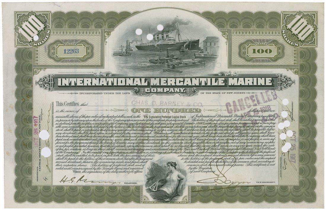 16: International Mercantile Marine Co.
