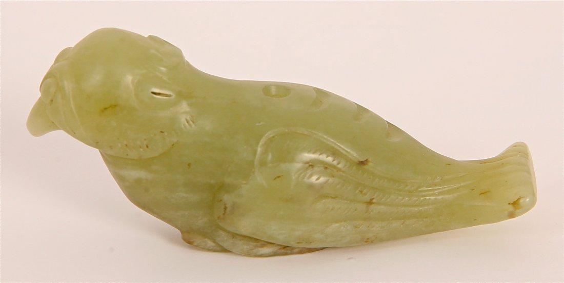 15: Antique Jade Bird Carving
