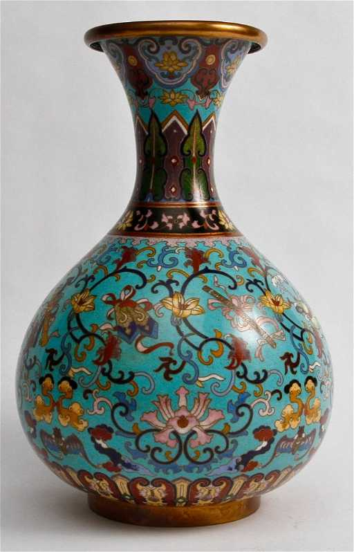 38 Antique Chinese Cloisonne Vase