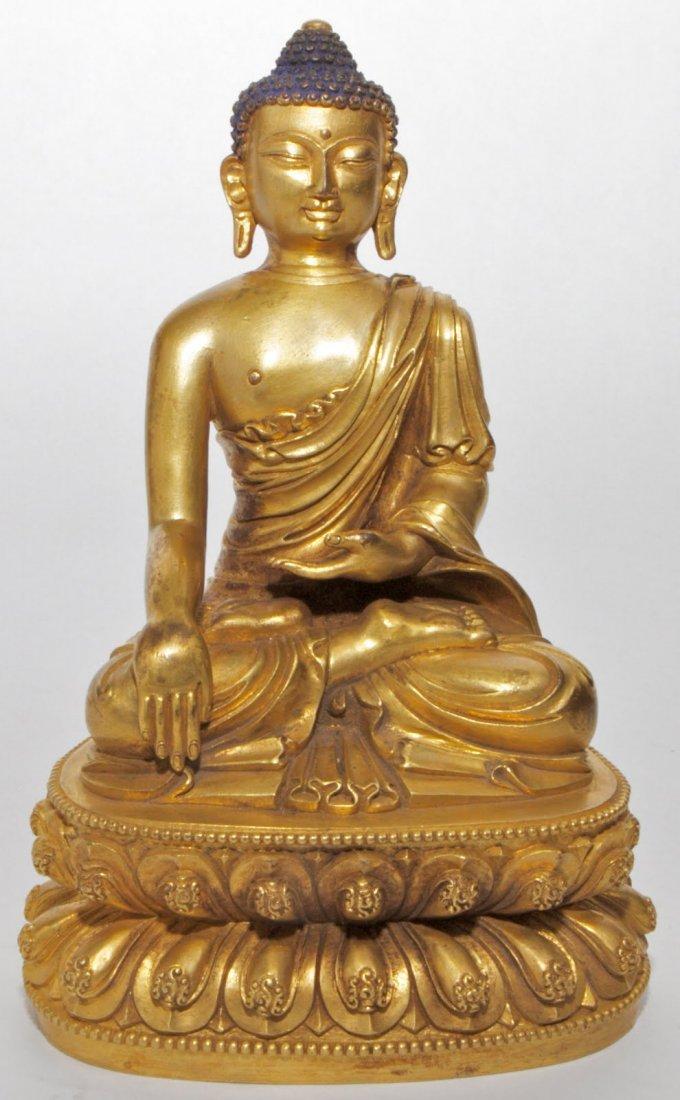 26: Gilt Bronze Buddha