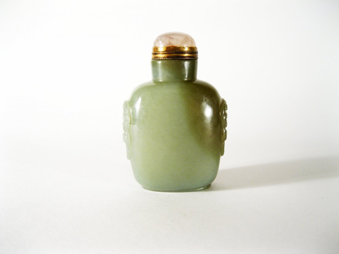 2: Celadon Jade Snuff Bottle, 19th Century