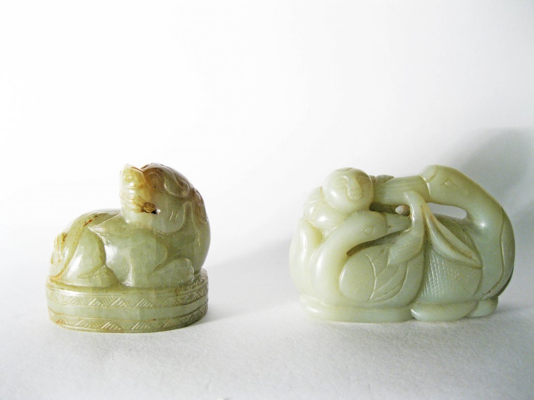 7: Two Antique Jade Carvings