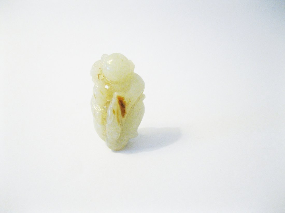 15: Fine White Jade Carving of a Boy, Qing Dyansty