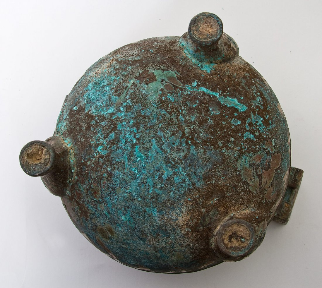 62: Bronze Tripod Vessel and Cover,China,Warring States - 4