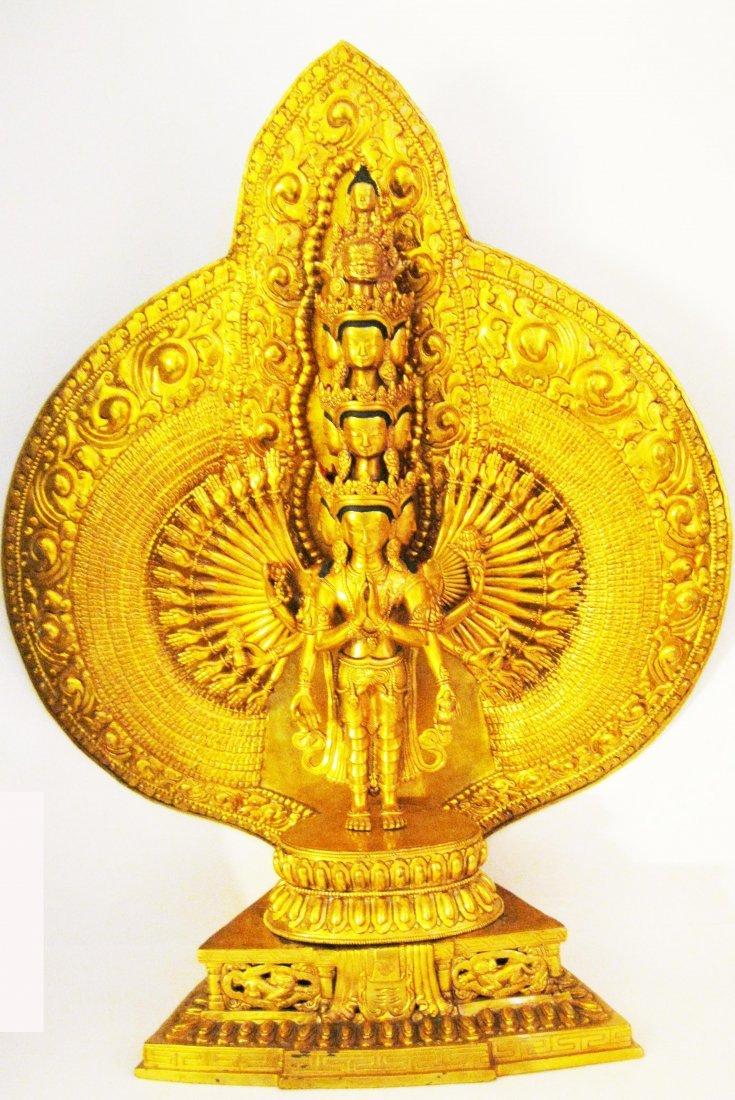 60: Sino-Tibetan Gilt-Bronze Statue, Avalokiteshvara