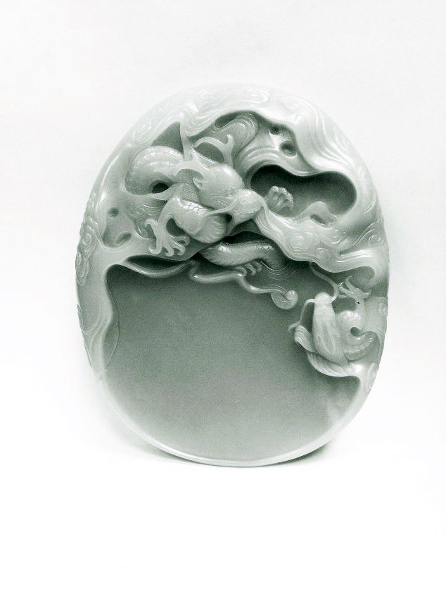 Jade Dragon Ink-stone, 18th Century