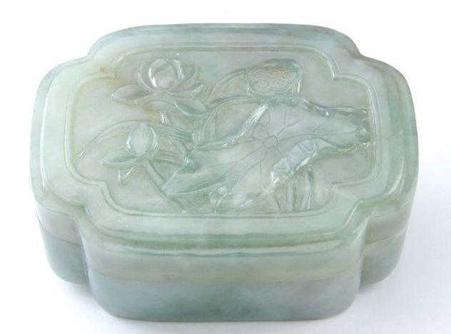 Celadon Jade Box, Qing Dynasty