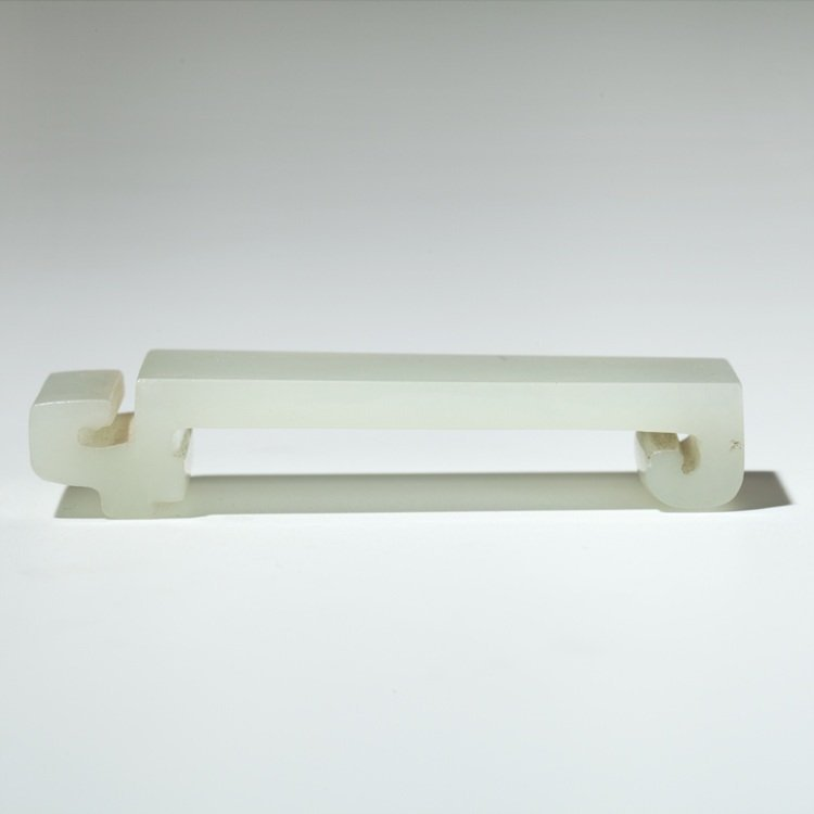 Fine White Jade Brush Rest, 18/19th Century
