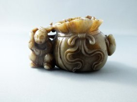 Very Fine Celadon Jade Group, Qianlong Period