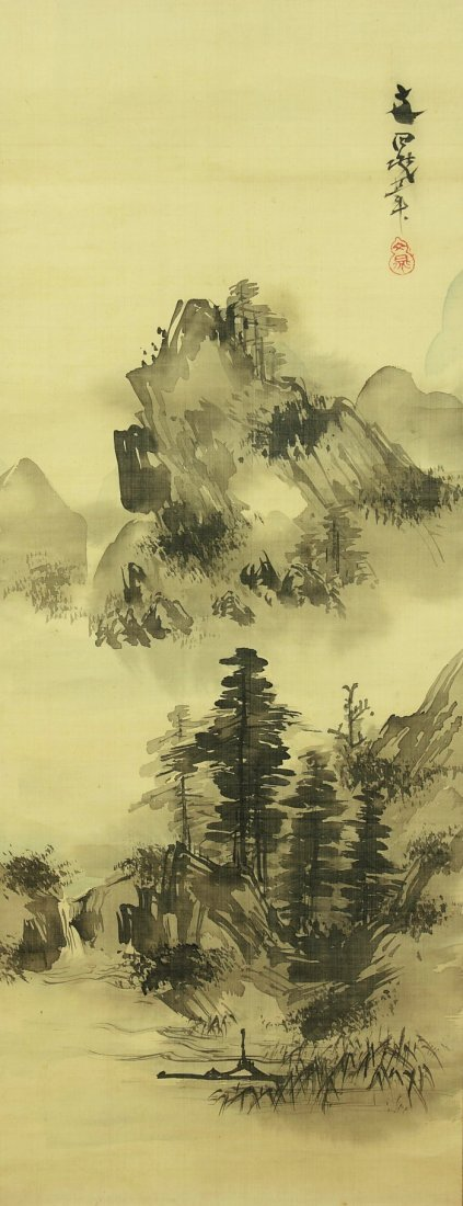 Japanese Scroll Painting by Tani Buncho (1763-1841)