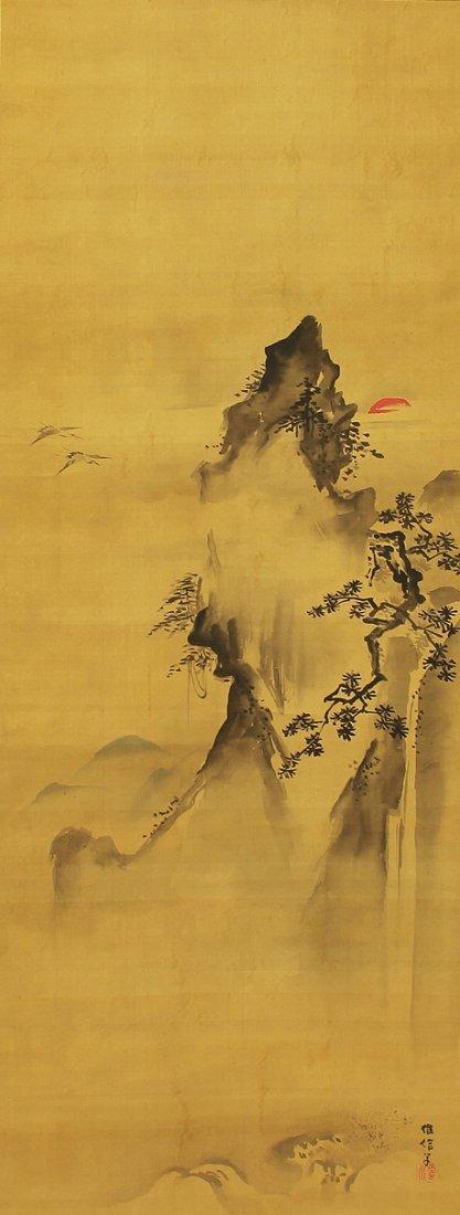 Japanese Scroll Painting by Kano Korenobu (1753-1808)
