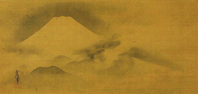 Japanese Scroll Painting by Kano Tsunenobu (1636-1713)