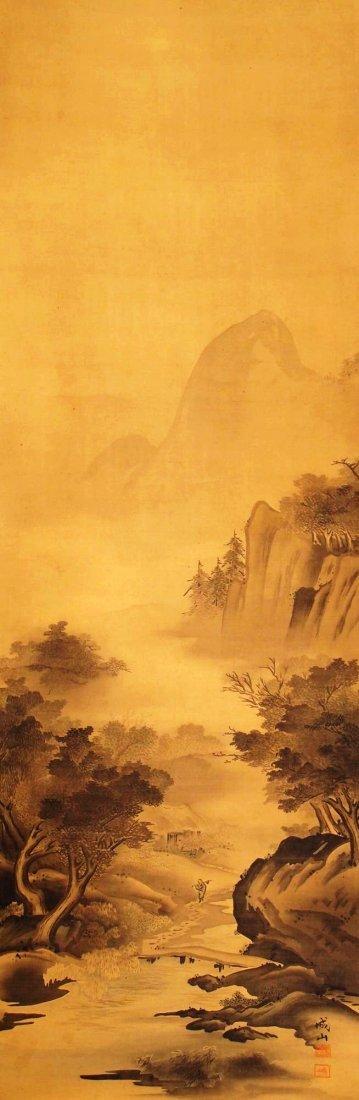 Japanese Painting, signed Jozan (19th century)