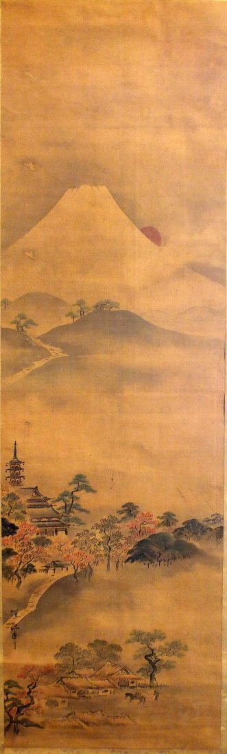Rare Japanese Scroll Painting by Kano Tanyu (1602-1674)