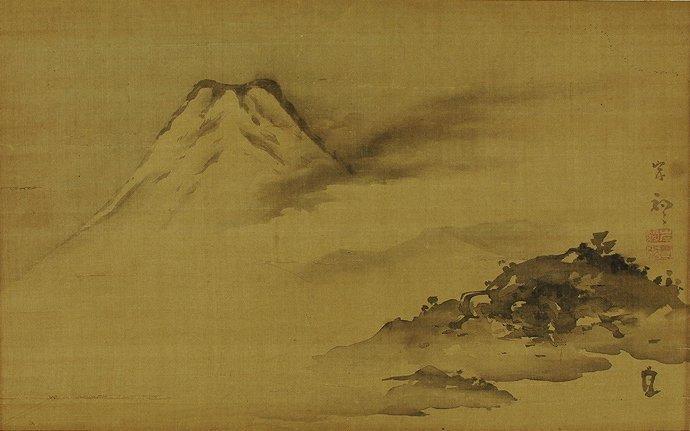 Japanese Scroll Painting by Kishi Ganku (1749-1836)