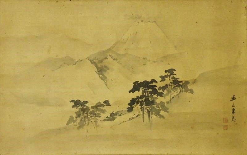 Japanese Scroll Painting by Kishi Renzan (1805-1859)