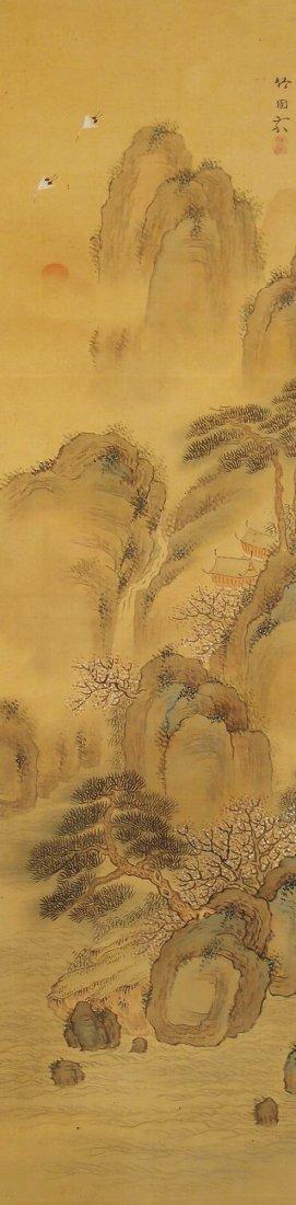 Japanese Scroll Painting by Mizuta Chikuho (1883-1958)