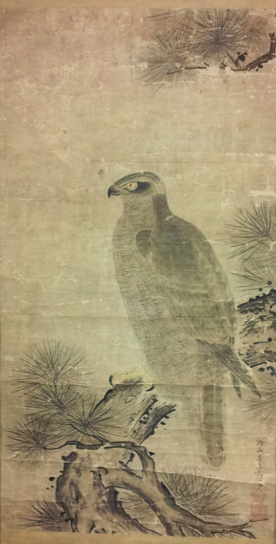 Japanese Painting probably by Kozan Toei (Edo Period)