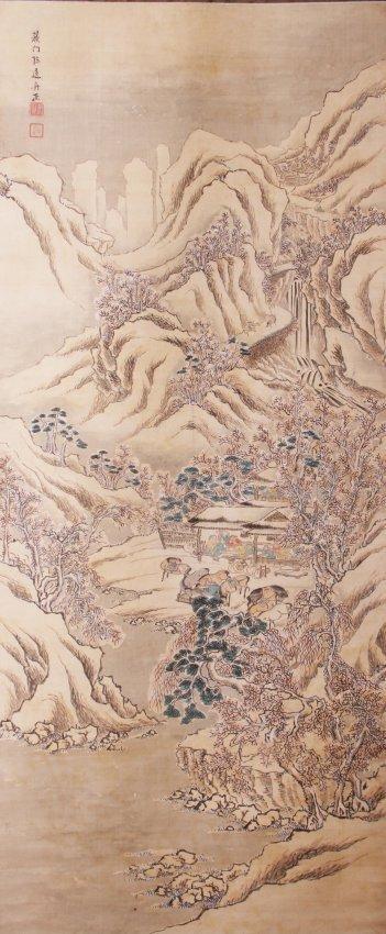 Scroll Painting probably by Li Yuan Ren (Japan, c.1830)