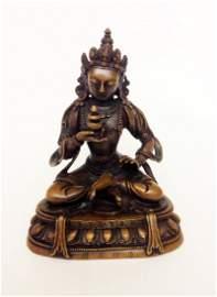 Gilt Bronze Buddha, Qianlong Mark and Period
