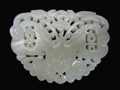 Good White Jade Butterfly, 19th Century