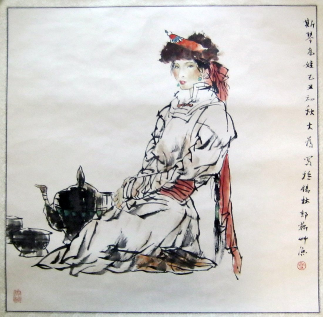 Chinese Ink Painting Signed Liu Dawei (born 1945)