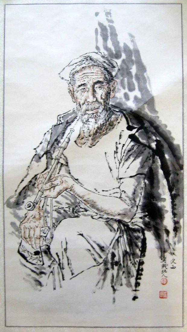 Chinese Ink Painting, Signed Liu Wenxi (born 1933)