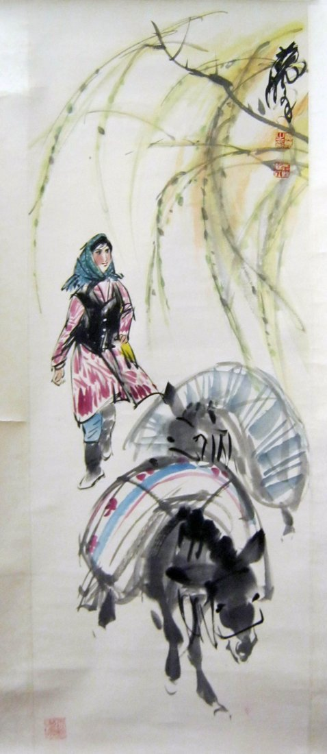 Chinese Scroll Painting, Signed Huang Zhou(1925-1997)