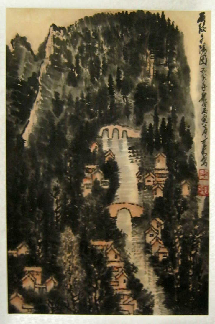 Chinese Scroll Painting, Signed Li Keran (1907-1989)