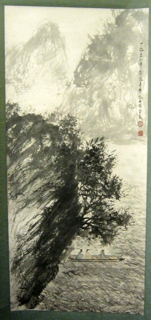 Chinese Scroll Painting, Signed Fu Baoshi (1904-1965)