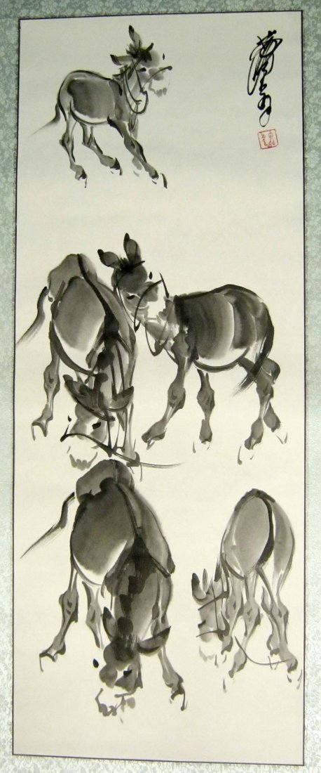 Chinese Ink Painting, Signed Huang Zhou (1925-1997)