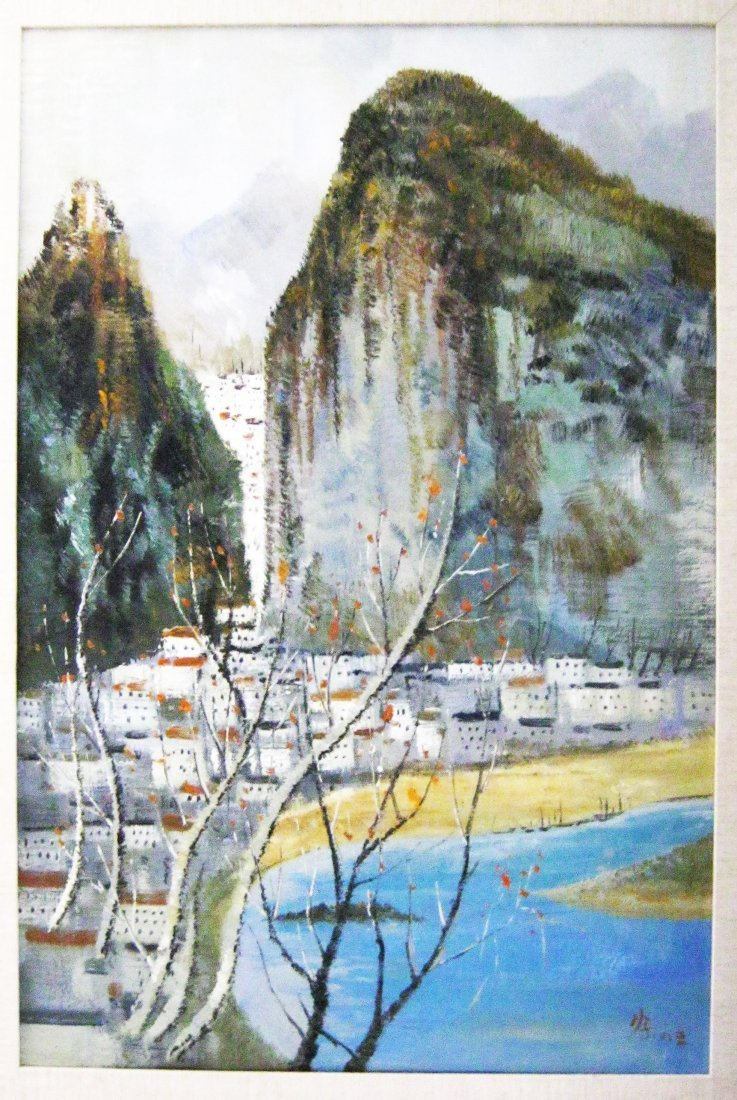 Oil on Canvas, Attributed to Wu Guanzhong (1919-2010)