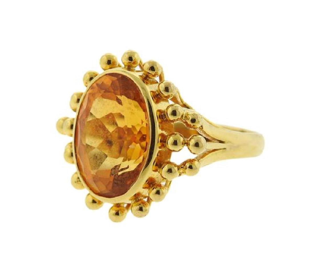 18k Gold Citrine Ring - 2
