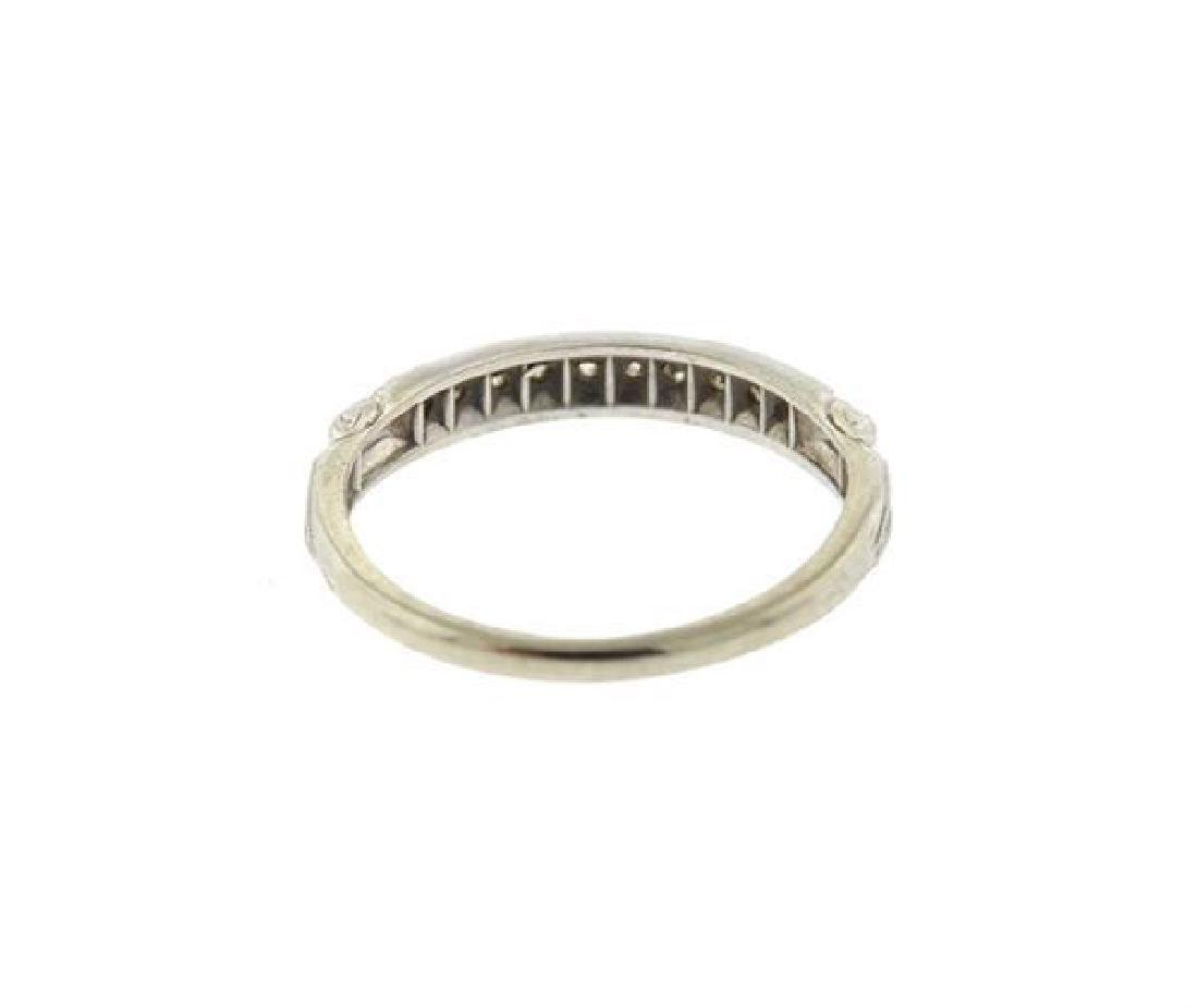Art Deco Platinum Diamond Half Band Ring - 2
