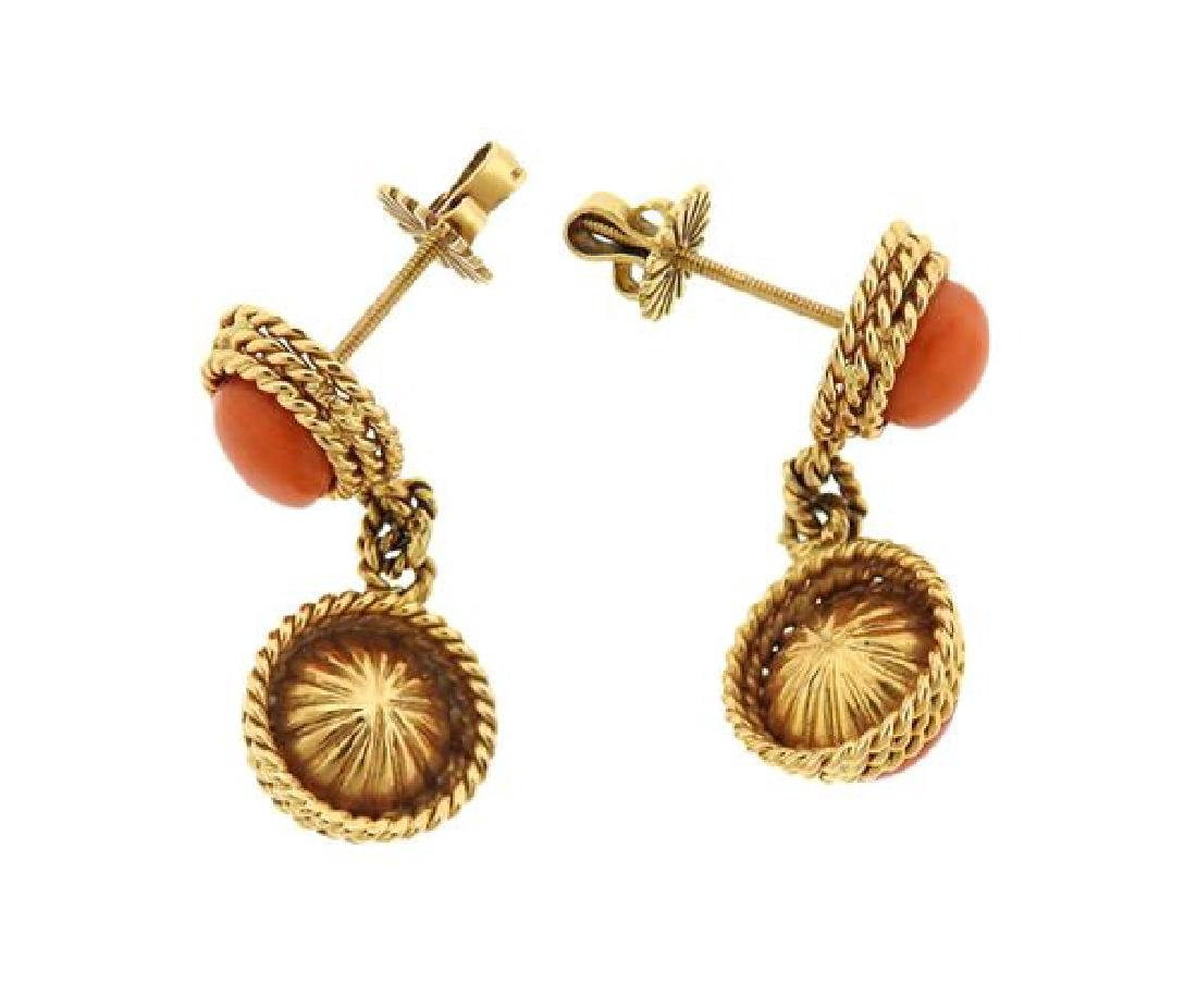 1960s 18k Gold Coral Ring Earrings Set - 7